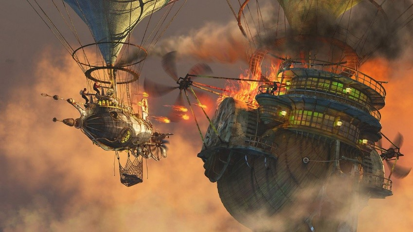 Image result for crashed airship fantasy